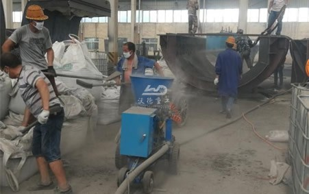 Application of shotcrete machine in Thailand