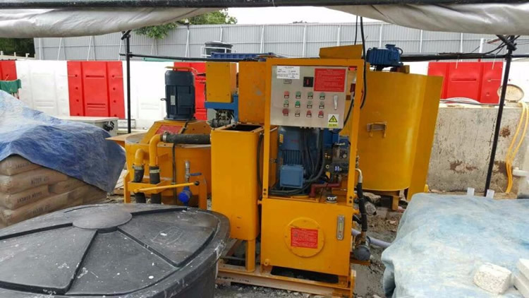 All-in-one mixing grout plant for cement grouting project