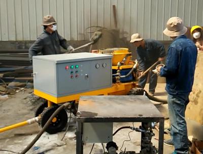 Bangladesh costomers visit our wet mix shotcrete machine factory