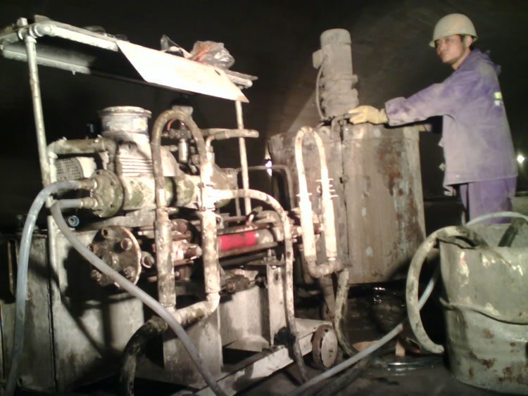 Application of Grouting Reinforcement in the Subway Station with grout plant