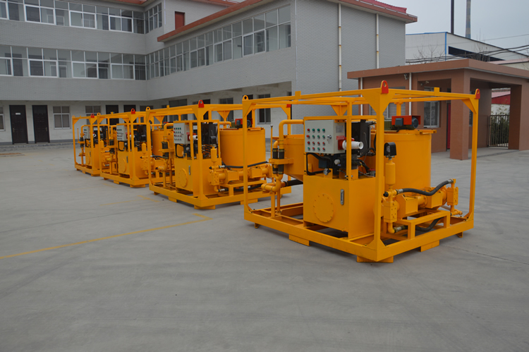 Bentonite/cement slurry grout plant/station are sent to our customers