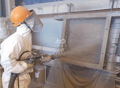 dry spraying gunite machine for refractory
