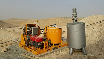 Singapore grouting pump with mixer