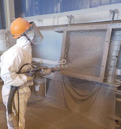 refractory gunning machine for cement industry