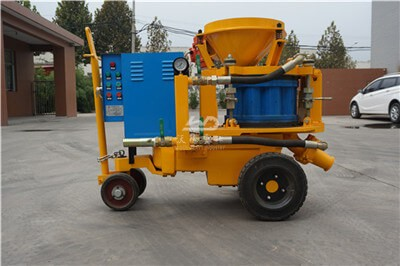 classification of concrete spraying machine