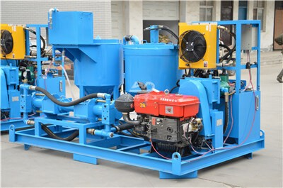 grout mixing plant and pumping system