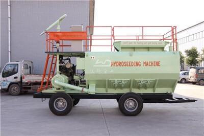Grass seed hydroseeding machine