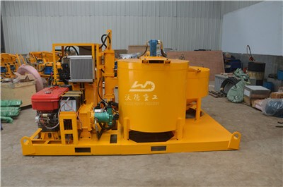 Grout plant pump with mixer