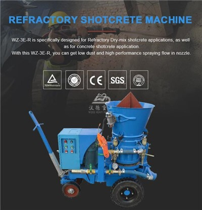 Small guniting machine for refractory repairs Singapore
