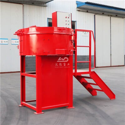 Portable castable refractory pan mixer for sale