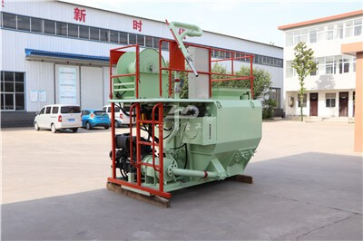 Hydro mulching machine for slope protection