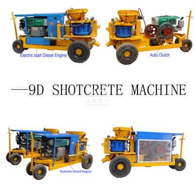 Small shotcrete machine for doing concrete pools