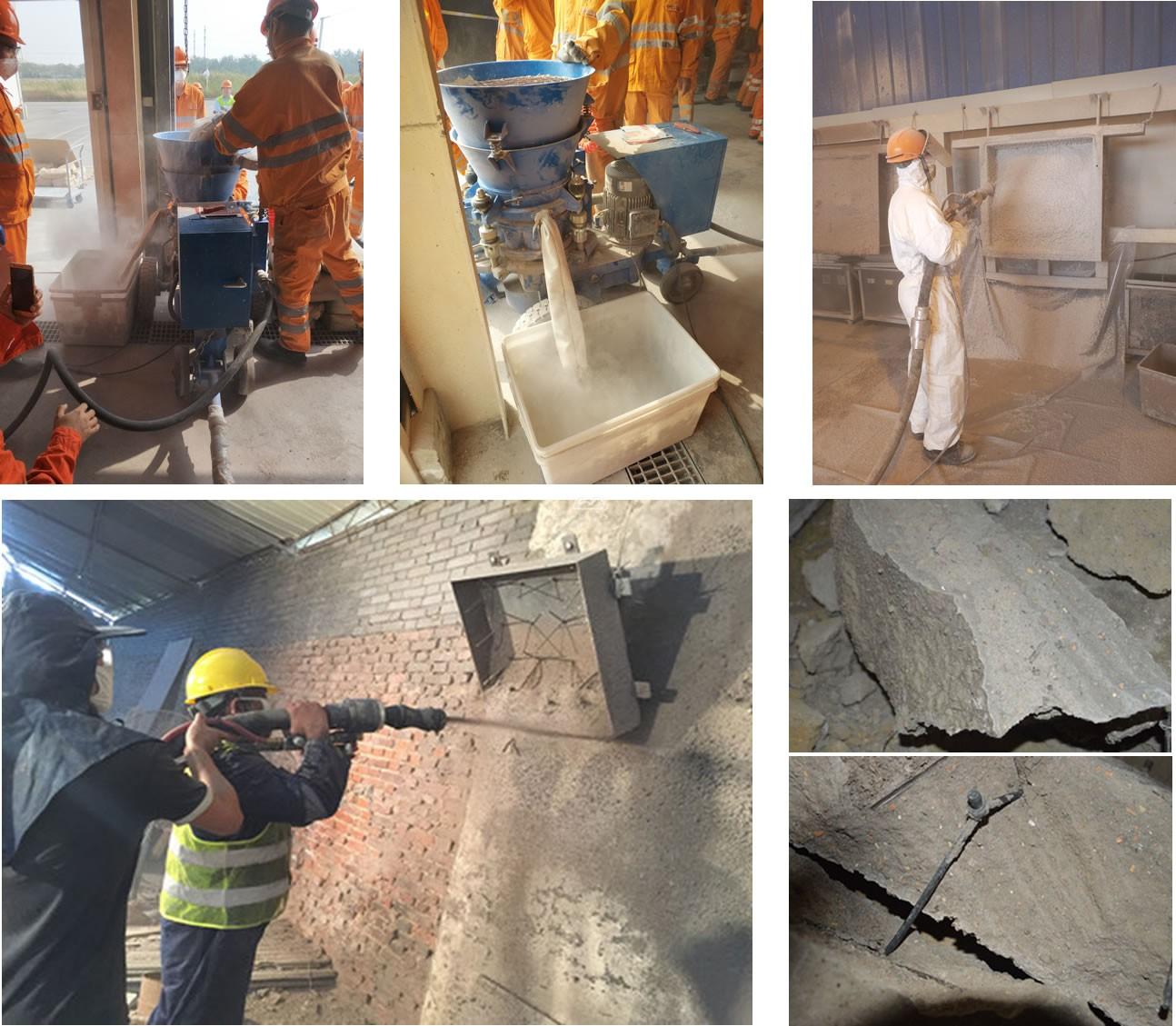 refractory spraying gunite machine manufacturers