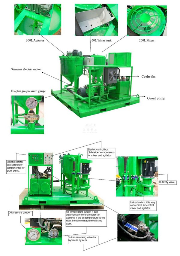grout mixing injection plant