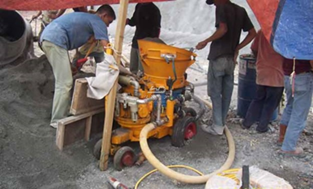 Application of concrete gunning machine in Philippines
