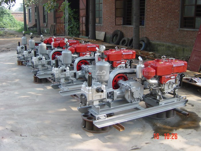 Wode grout pump and mixer are used in Bakun Dam