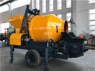 small mobile concrete pumps with mixer