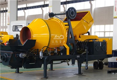 mobile concrete pumps with mixer for sale