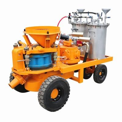 application of concrete shotcrete machine