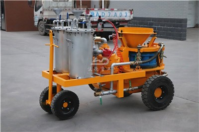concrete wet spray machine to India