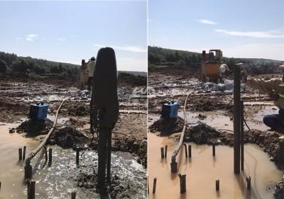 Grout Pump Plant under construction
