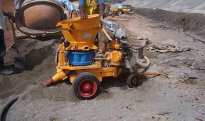 Shotcrete machine for slope protection