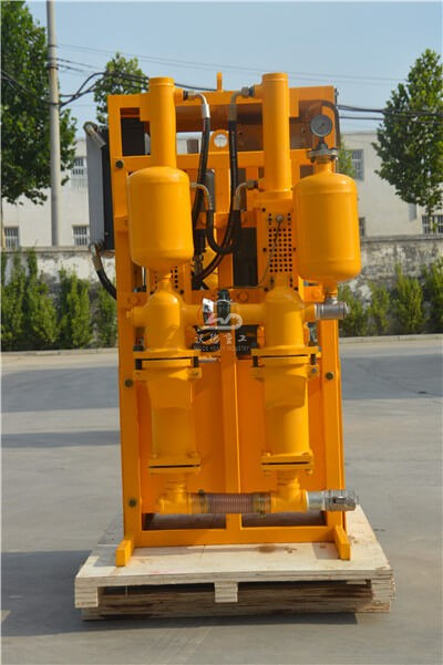 Double acting piston grout pump