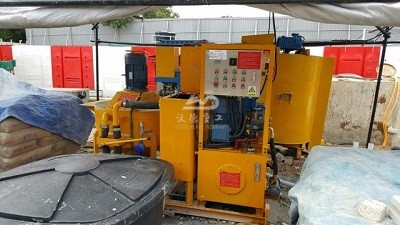 grout plant and pump are used in Malaysia