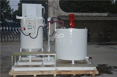 cement grout mixer and agitator