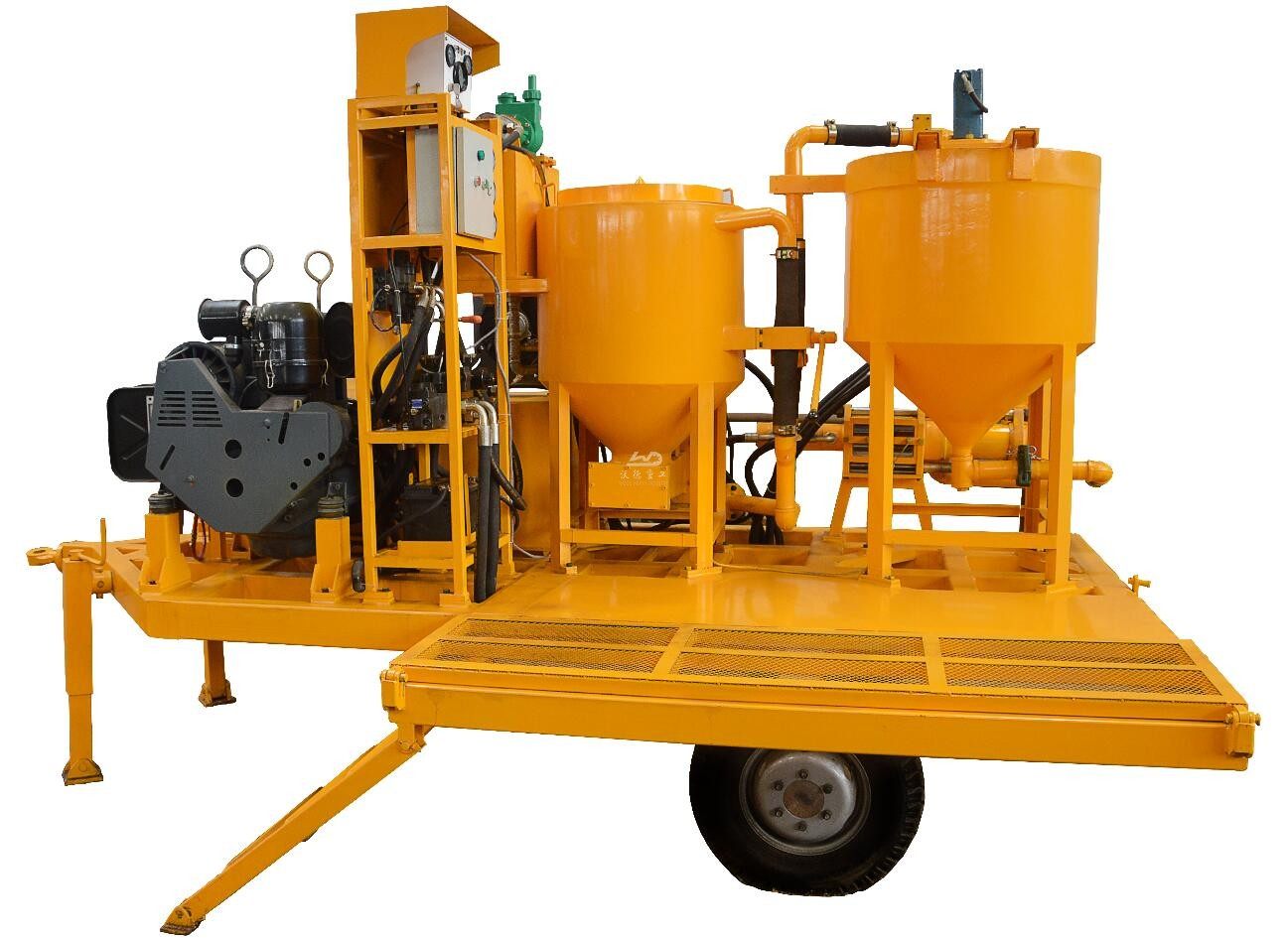 wheel mounted mixing and grouting unit China