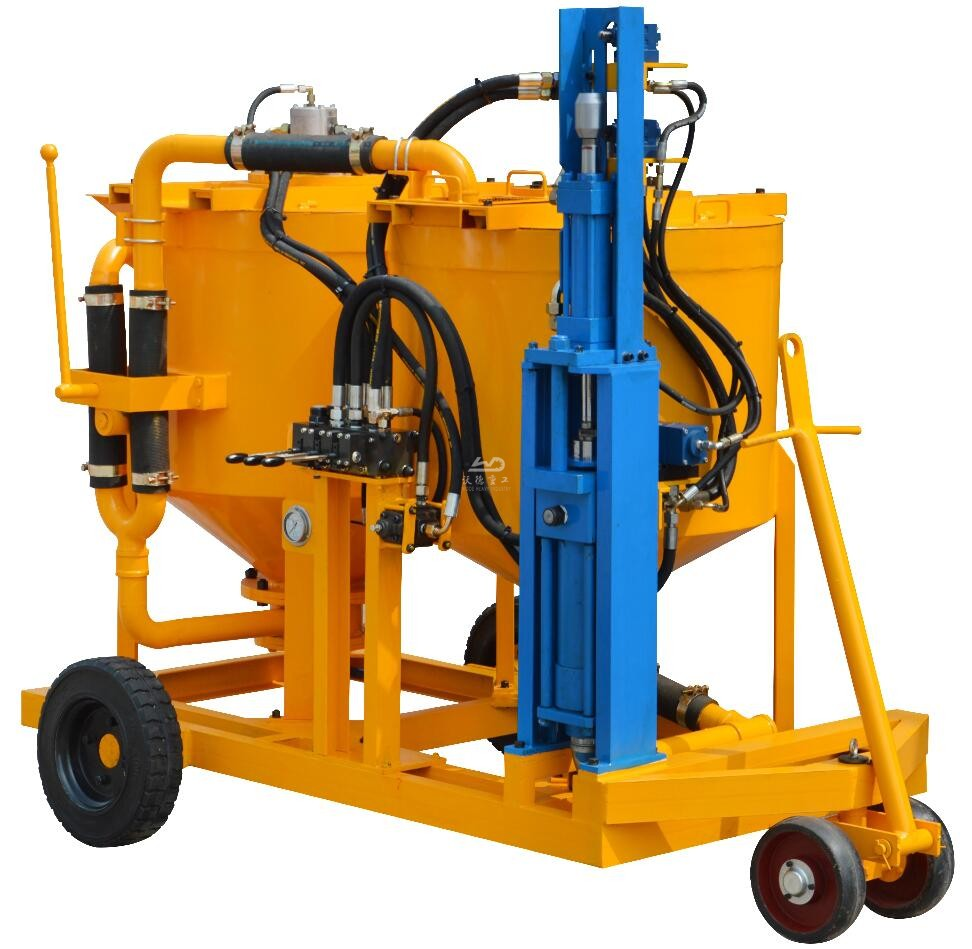 grouting mixing unit mounted wheel