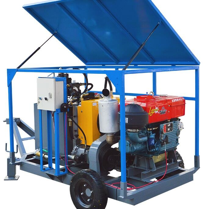 Wheel mounted mixing and grouting unit