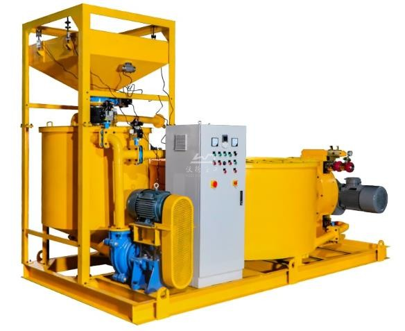 Grout mixing machine for consolidation grouting in dams lean concrete