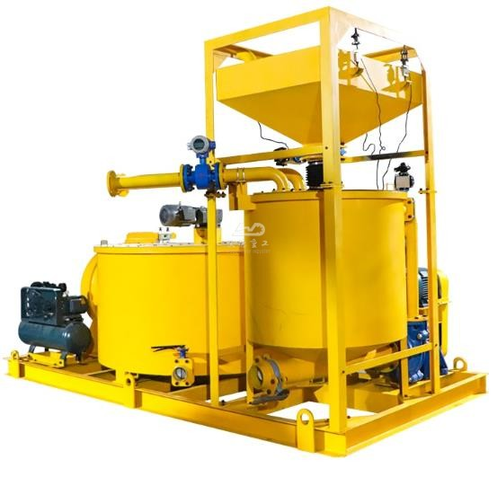grout mixing machine for dams
