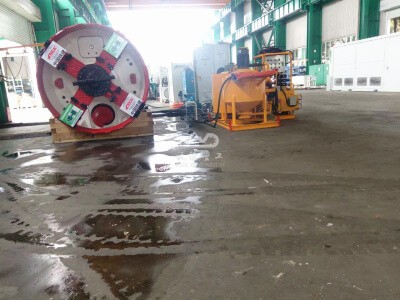 Grouting pump with mixer for pipe jacking project