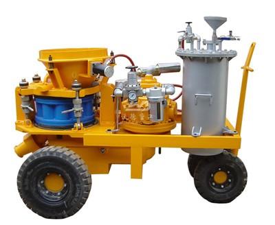 dry mix air motor shotcrete machine