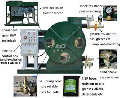 transfer peristaltic hose pump