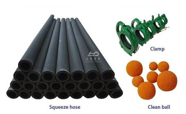 foam concrete hose pump spare part