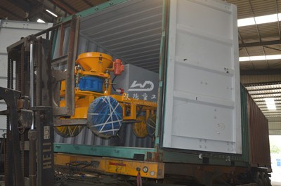delivery of concrete spraying machine Germany