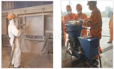 refractory cement shotcrete machine