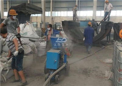 refractory gunite machine for lime plant