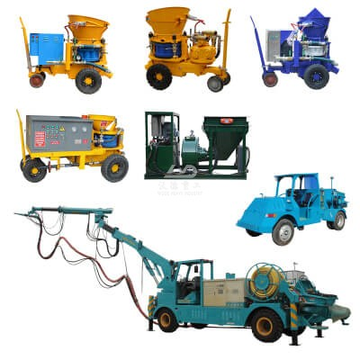 concrete shotcrete machine manufacturers