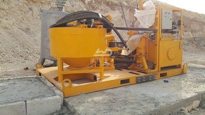 grout mxing plant for dam