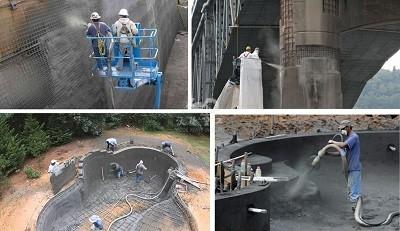 Shotcrete  machine for doing concrete slope