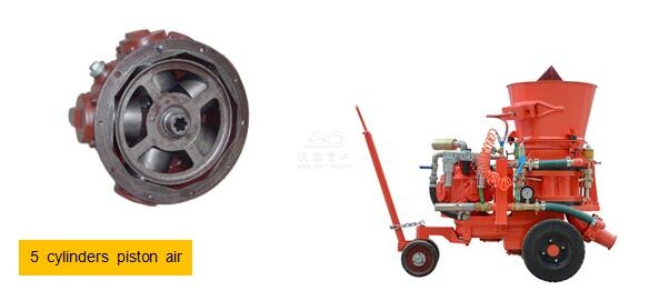 5 cylinders piston air motor