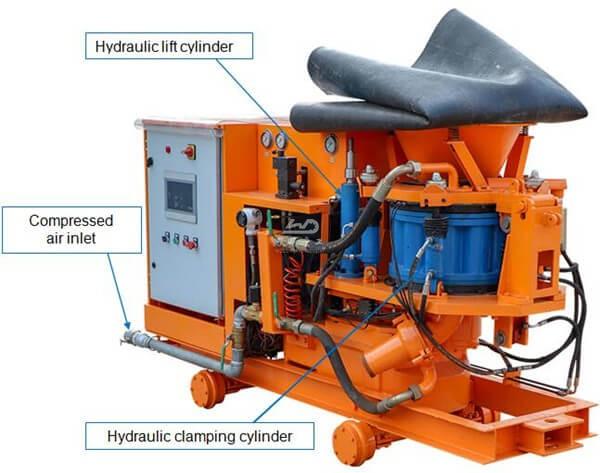 shotcrete pump and conveying pea gravel machine