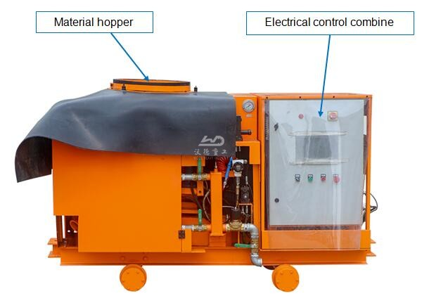 wet & dry type rotary shotcrete pump for tbm