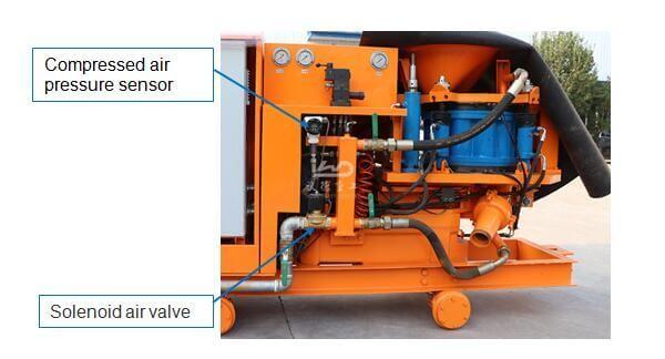 TBM wet & dry type rotary shotcrete pump