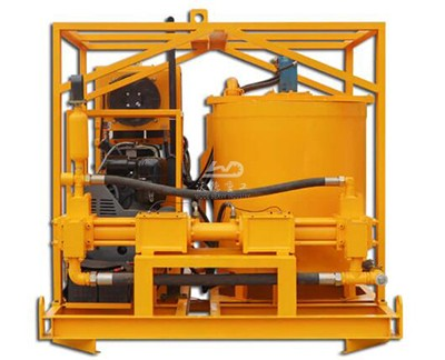 skid mounted grout plant