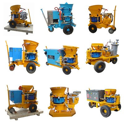 shotcrete machine for spraying shotcrete